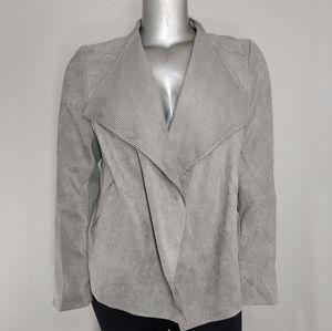 Next Jacket Drape Moto Faux Suede Gray 18